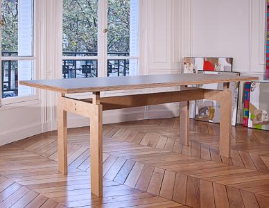 Table bureau en multiplis de bouleau