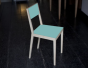 Chaise laquée Turquoise