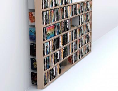 Bibliothèque Wall Disc, multiplis de bouleau