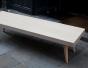 Table basse, multiplis de bouleau, CP de bouleau, table biseautée, table basse design