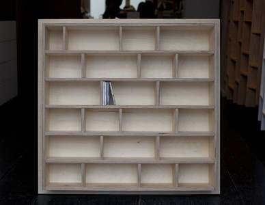 Exemple d'une étagère de 98,5cm x 98,5cm, avec un fond dépassant de 5cm, sur toutes les configurations.