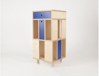 """Système d'étagère """"Building"""" 3M, avec tiroir horizontal."""
