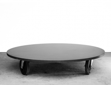 Table basse Béton, design Antoine Courtiol - Table Basse Ronde O²