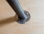 Table basse en multiplis de bouleau, pieds en acier, plateau bouleau, multiplis de bouleau vernis