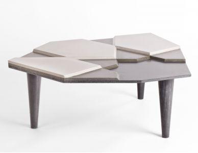Table basse Fragment, béton fibré