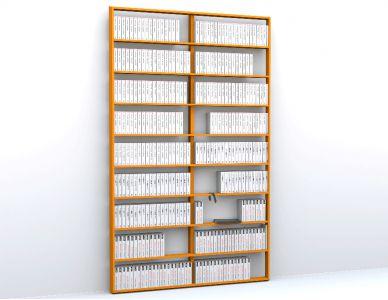 Bibliothèque sur mesure WallBook